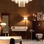 Kerasan Bentley - Vasca lavabo specchio e vaso- Design M.Sadler Ph.R.Costantini