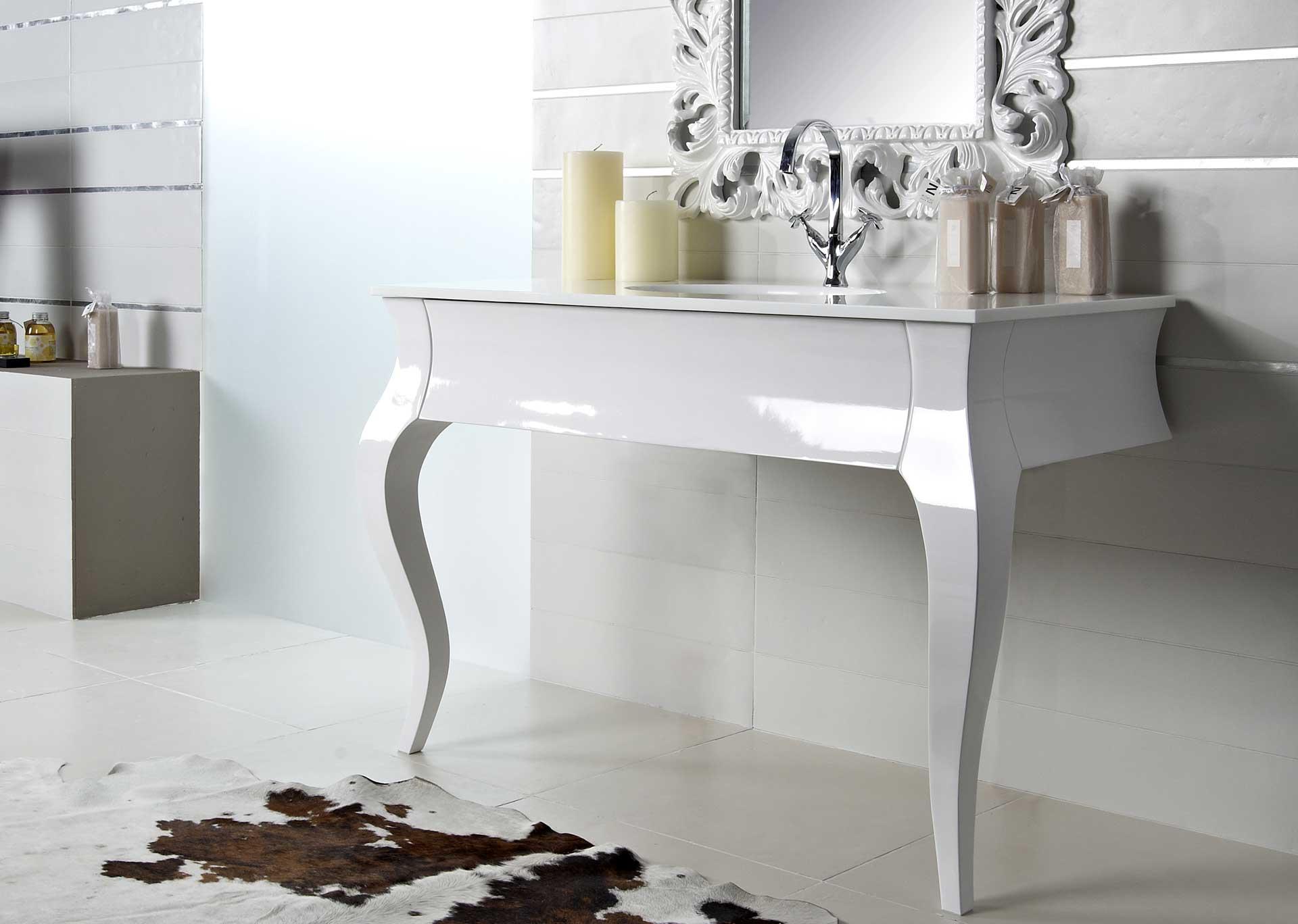 Mobile bagno bianco lucido ante e cassetti ~ avienix.com for .