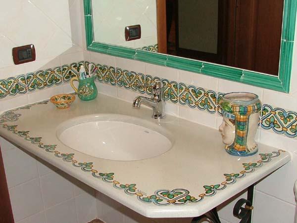 Ceramiche il rustico caltagirone casa italia - Piastrelle per bagno rustico ...